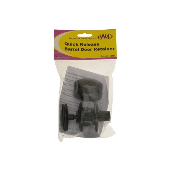 Barrel Door Retainer - Quick Release - Black