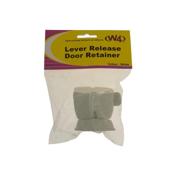 Lever Release Door Retainer - White