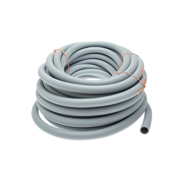 Convoluted Waste Hose - Grey - 28.5mm ID - 25m Roll