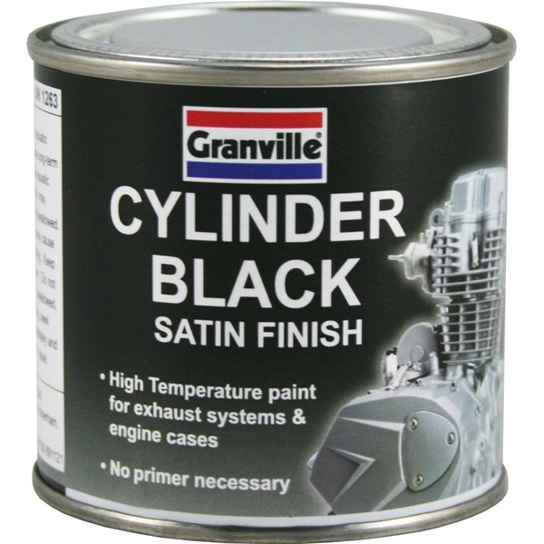 High Temperature Cylinder Paint - Black Satin - 250ml