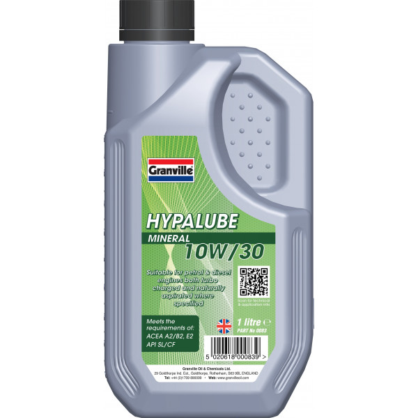 Hypalube Mineral Oil 10W30  - 1 litre