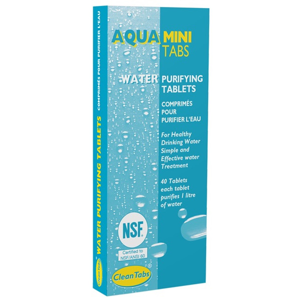 Aqua Mini Purifying Tablets - 40 Tabs x 18 Packs