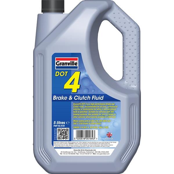 DOT 4 Synthetic Brake & Clutch Fluid - 5 Litre