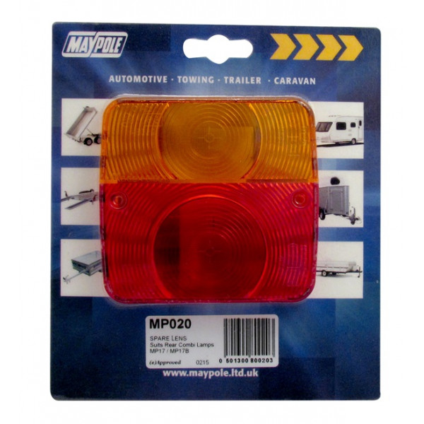 Rear Lamp - Square  - Lens Only - 017