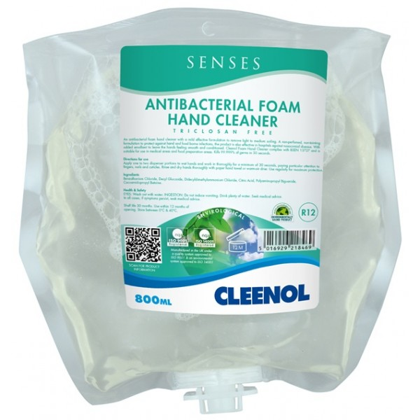 Antibacterial Foam Hand Cleaner - 800ml Pouch