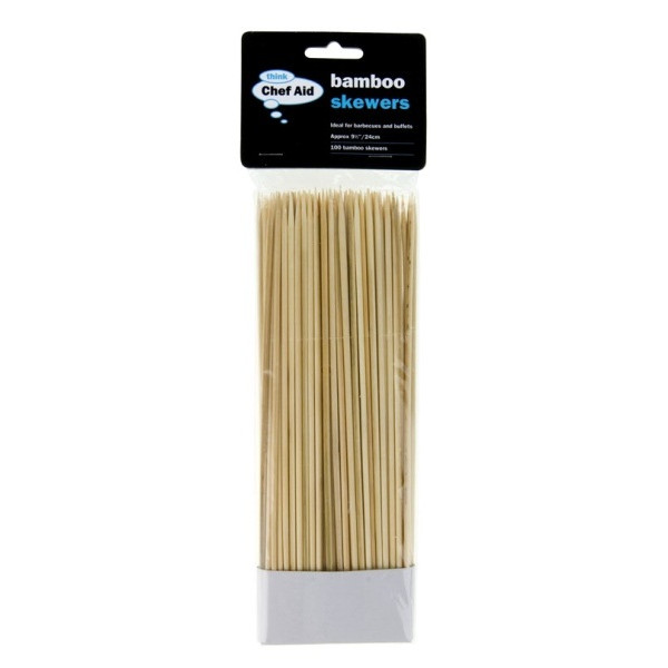 25cm Bamboo Skewers x 100 - Pack of 12