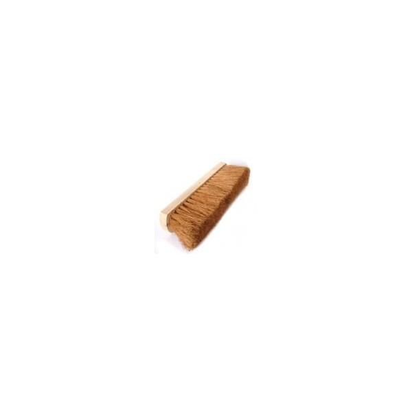 Soft Bristle Wooden Broom Head - 12in.