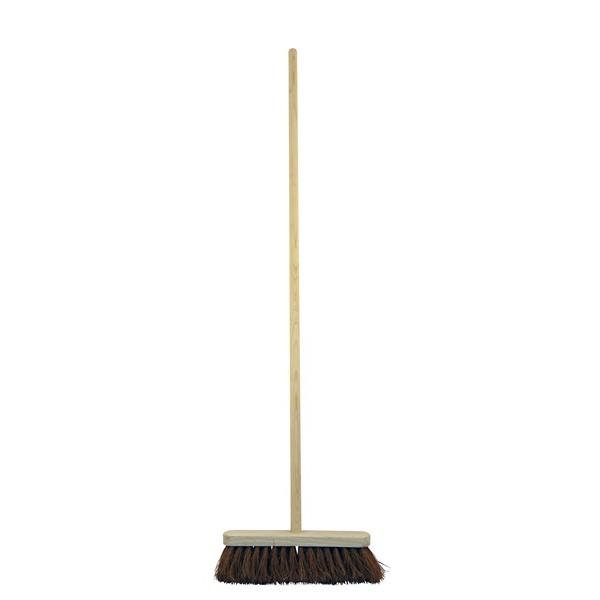 Soft Bristle Wooden Broom Head & Handle - 12in.