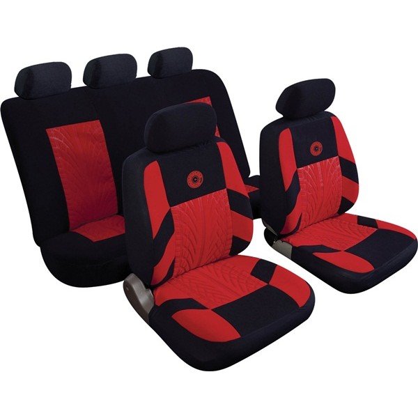 Car Seat Cover Precision - Set - Black/Red