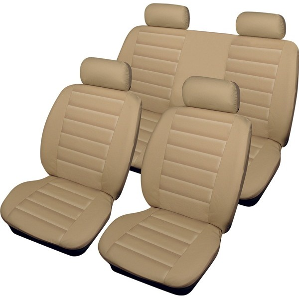 Car Seat Cover Leatherlook - Set - Beige