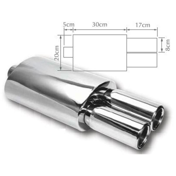 Exhaust Backbox - Twin Pipe