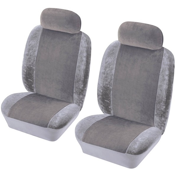 Car Seat Cover Heritage - Front Pair - Grey