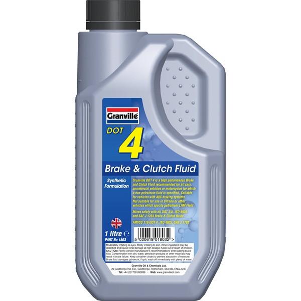 DOT 4 Synthetic Brake & Clutch Fluid - 1 Litre