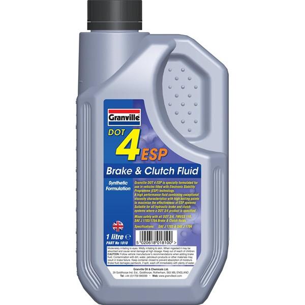 DOT 4 Synthetic ESP Brake & Clutch Fluid - 1 Litre
