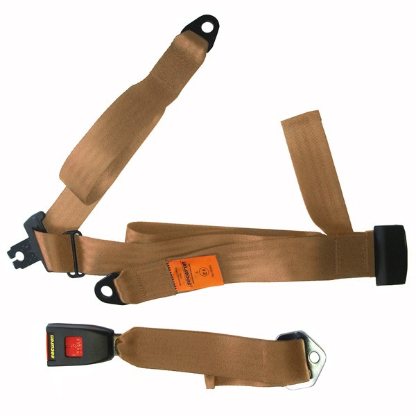 Seat Belt - Static Lap & Diagonal - Beige