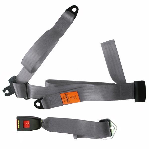 Seat Belt - Static Lap & Diagonal - Grey