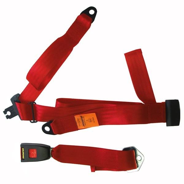 Seat Belt - Static Lap & Diagonal - Red