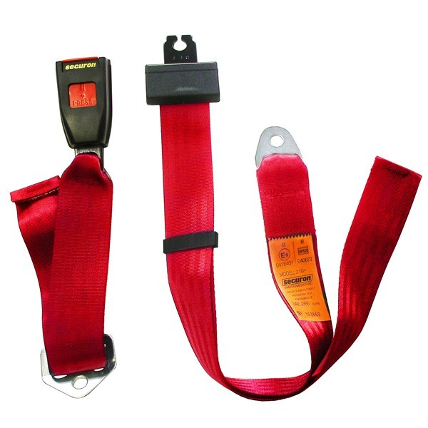Seat Belt - Static Lap - Red