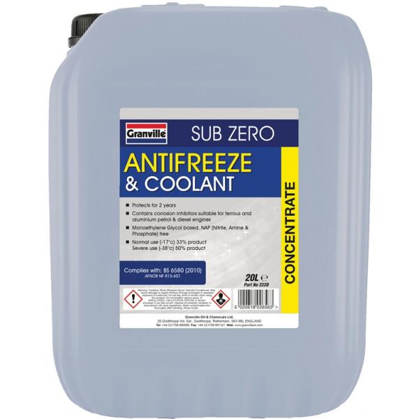 Sub-Zero Antifreeze & Summer Coolant - Concentrated - 20 Litre