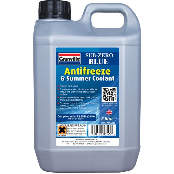Sub-Zero Antifreeze & Summer Coolant - Concentrated - 2 Litre