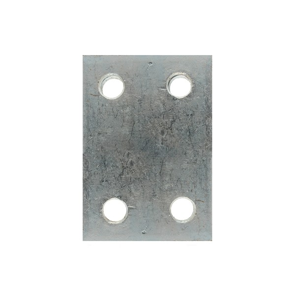 Drop Plate - 4 Hole - Zinc Plated - 2in.