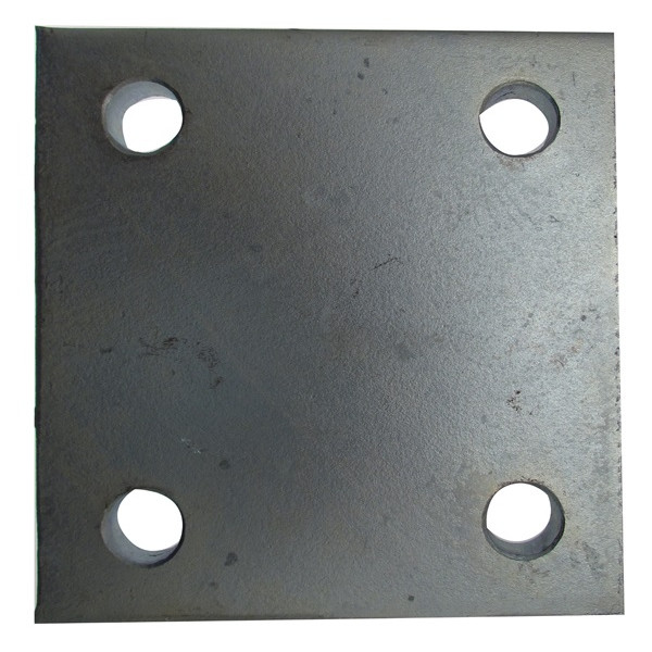 Drop Plate - 4 Hole - Zinc Plated - 4in.