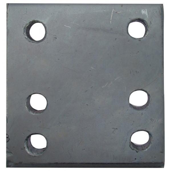 Drop Plate - 6 Hole - Zinc Plated - 4in.