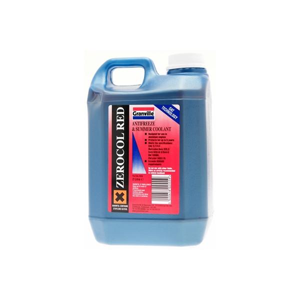 Zerocol Antifreeze & Summer Coolant - Concentrated - 2 Litre