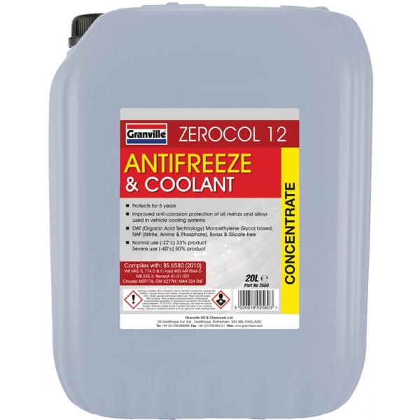 Zerocol Antifreeze & Summer Coolant - Concentrated - 20 Litre