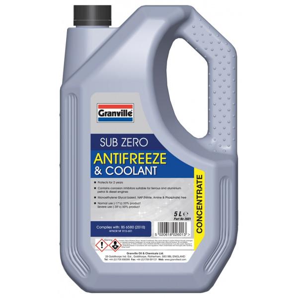 Sub-Zero Antifreeze & Summer Coolant - Concentrated - 5 litre