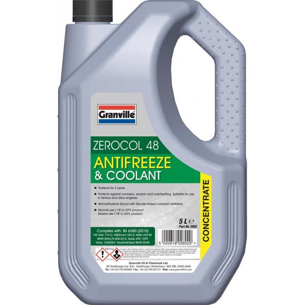 Zerocol 48 Anti-Freeze & Coolant - 5 Litre