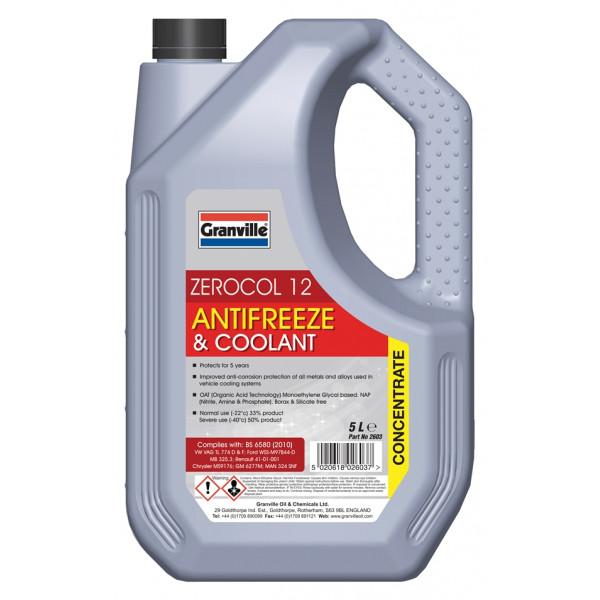 Zerocol Antifreeze & Summer Coolant - Concentrated - 5 Litre