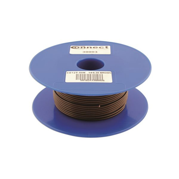 1 Core Cable - 1 x 14/0.3mm - Brown - 50m
