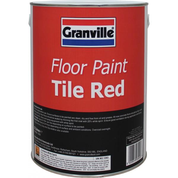 Tile Red Floor Paint - 5 litre
