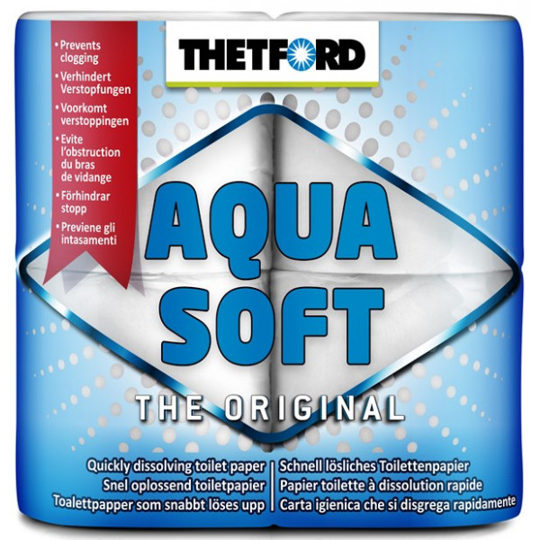 Aqua Soft Toilet Rolls - Pack of 4