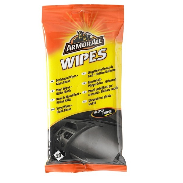 Dashboard Wipes - Gloss Finish - Pack Of 20