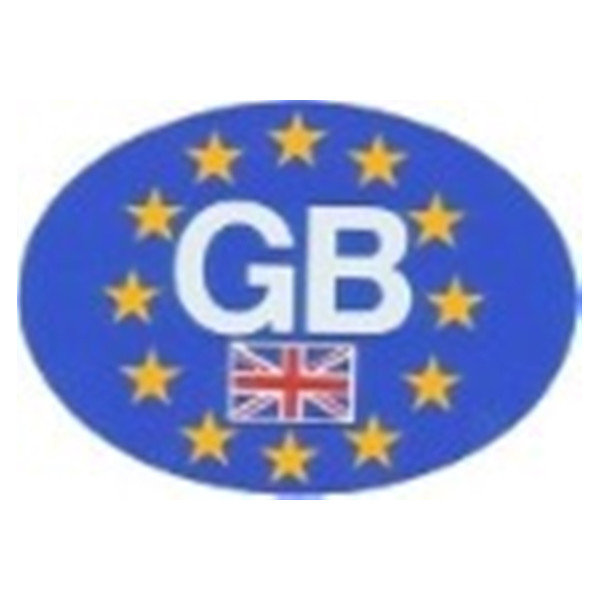 Self Adhesive Sticker - GB Oval Euro Plate