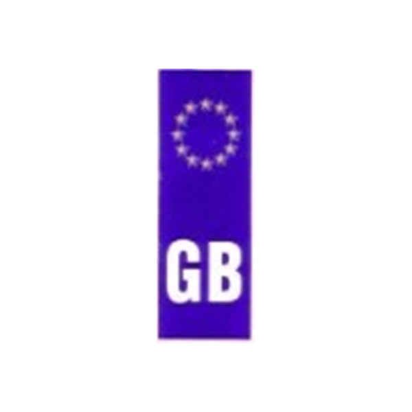 Self Adhesive Sticker - Upright GB Euro Plate