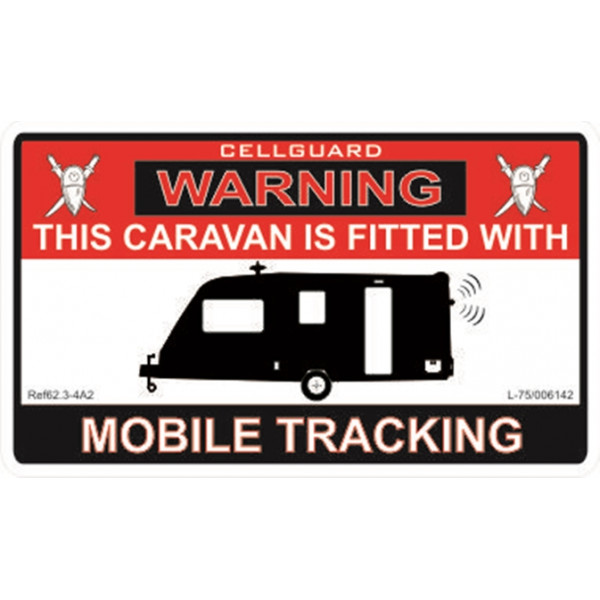 Self Adhesive Sticker - Caravan Tracking Fitted