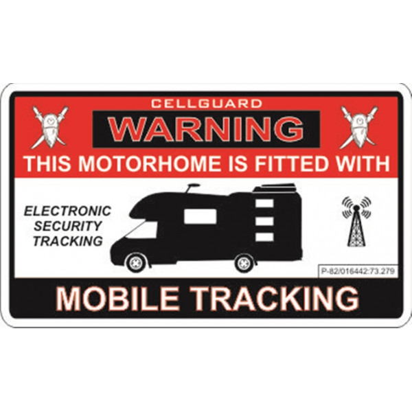 Self Adhesive Sticker - Motorhome Tracking Fitted