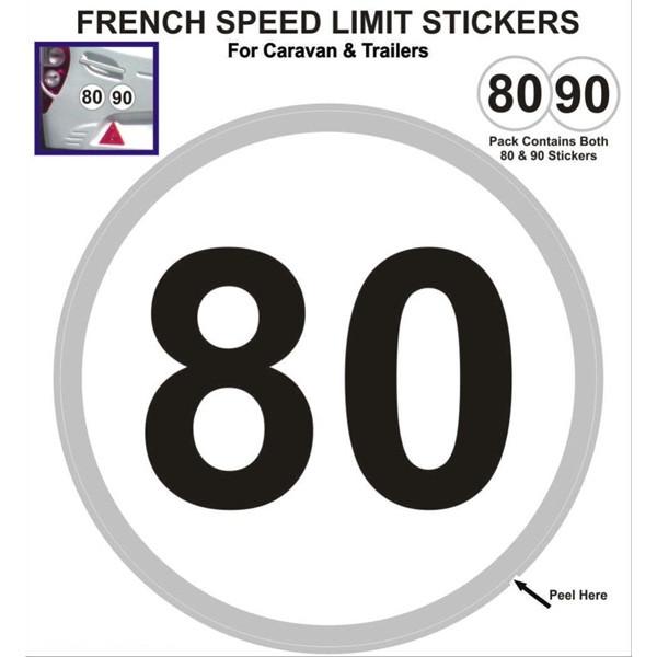 Outdoor Vinyl Sticker - White - Eu Speed Limit Stickers - 80/90kph