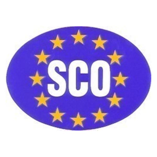 Self Adhesive Sticker - Oval Euro Plate Scotland
