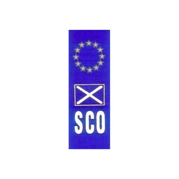 Self Adhesive Sticker - Upright Euro Plate Scotland