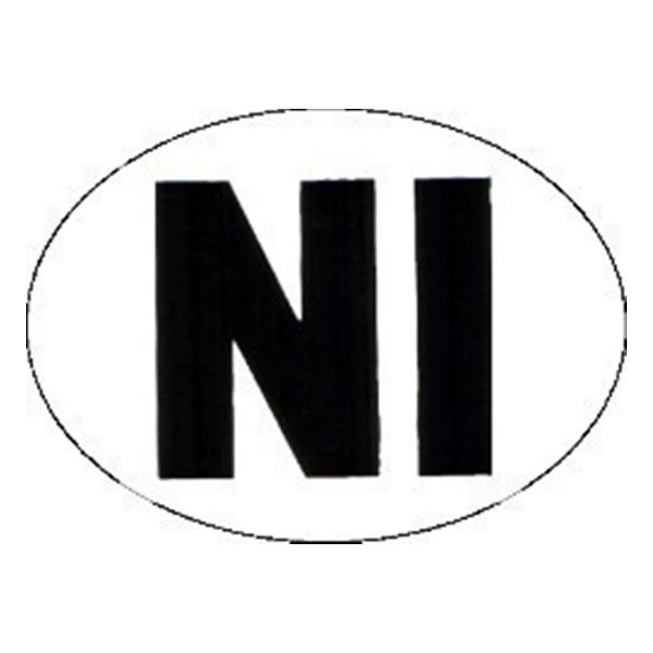 Self Adhesive Sticker - Large Oval N.I