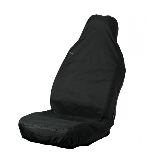 Car Seat Cover Stretch - Front Single - Black