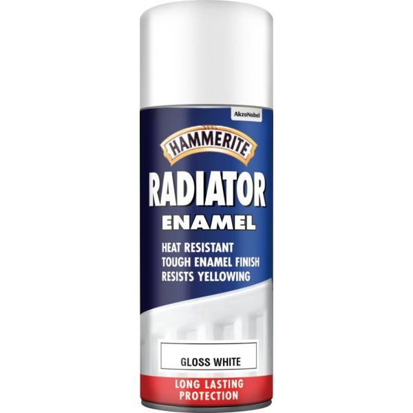 Radiator Aerosol Paint - Gloss White - 400ml