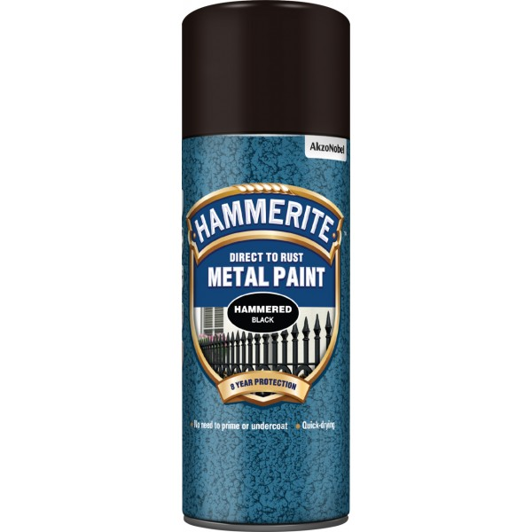 Direct To Rust Metal Paint - Hammered Black - 400ml