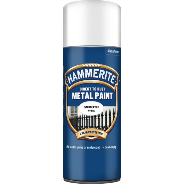 Direct To Rust Metal Paint - Smooth White - 400ml