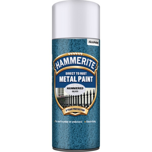 Direct To Rust Metal Paint - Hammered Silver - 400ml