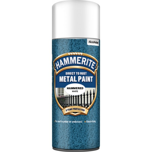 Direct To Rust Metal Paint - Hammered White - 400ml